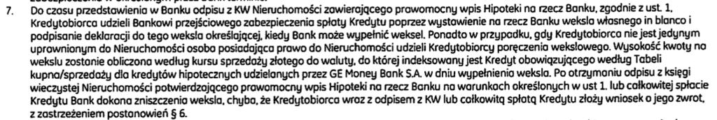 BPH weksel. Ge Money weksel. Kredyt indeksowany BPH. Kredyt denominowany Ge Money