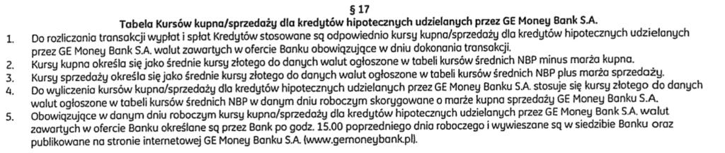 Tabela kursów kupna:sprzedaży BPH. Marża banku Ge Money. Pozew przeciwko BPH. Frankowicze BPH